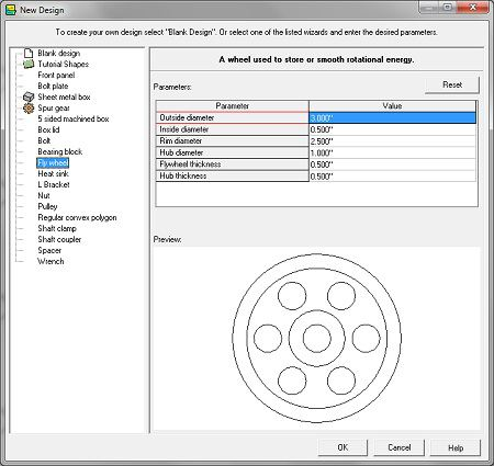 Free flywheel design software emachineshop for Machine shop layout software