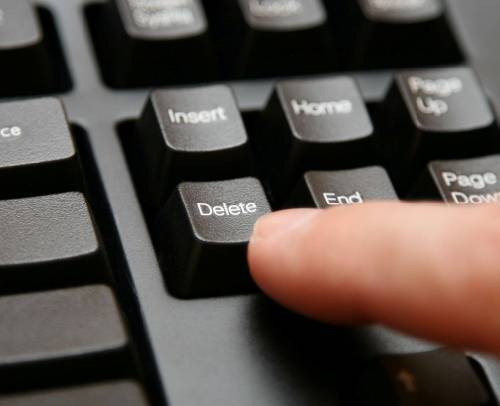 Press the Delete key to remove an item